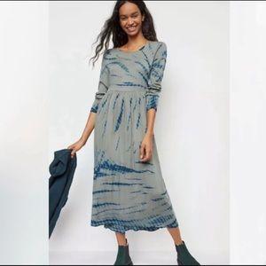 Anthropologie Eliska tie dye jersey maxi dress